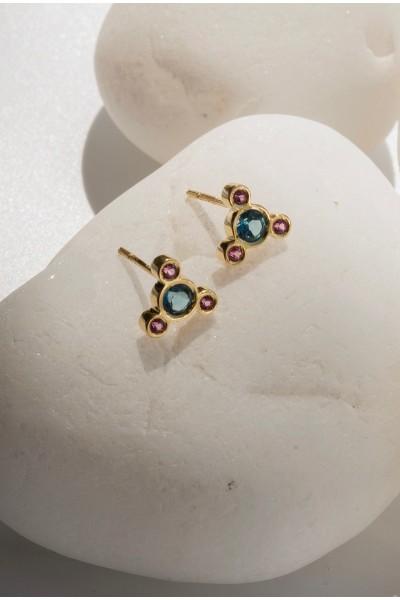Celeste Triangle Earrings (pair)   Uranus Collection