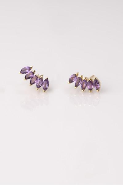 Amethyst Celocia Earrings   Dewdrop Collection